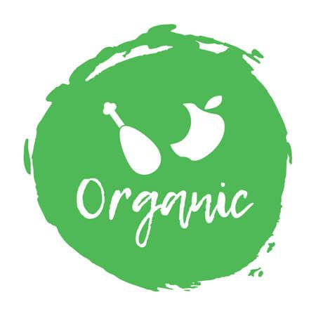 Recycling waste sorting icon - organic. Vector illustration. Illustration