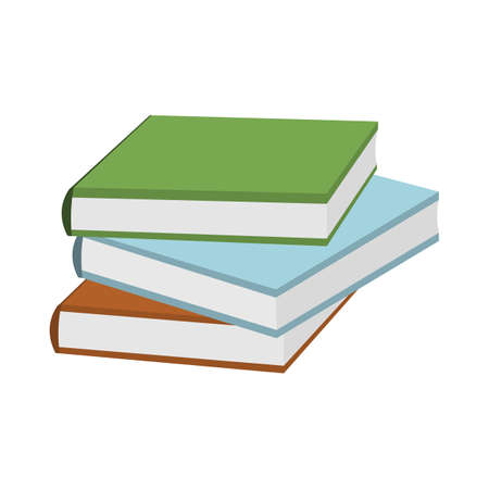 Cartoon Books  icon. Schools Supplies. Isolated Vector illustration.  イラスト・ベクター素材