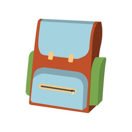 Cartoon Schoolbag icon. Schools Supplies. Isolated Vector illustration.