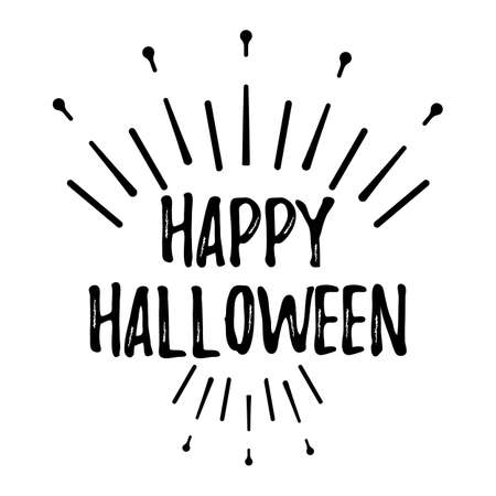 Glückliche Halloween-Gruß-Karte Mit Kalligraphischem Text. Halloween ...