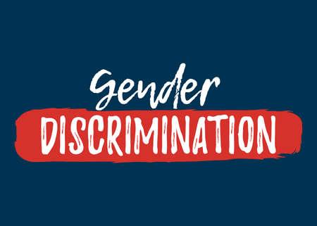 Gender Discrimination label. Font with Brush Style  Vector illustration icon. Illustration
