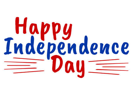 Happy 4 th July and Independence Day. Greeting Cards with Font. Vector illustration.