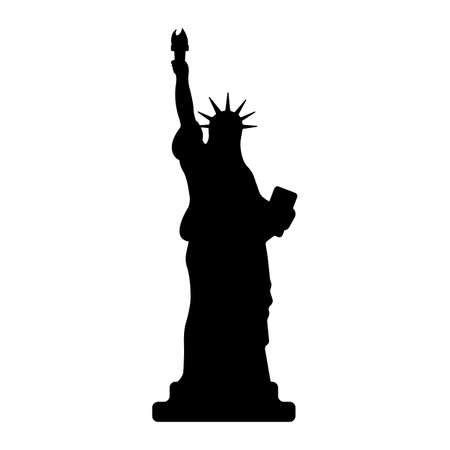 Statue of Liberty Icon. Happy 4 th July and Independence Day. Vector illustration. Vectores