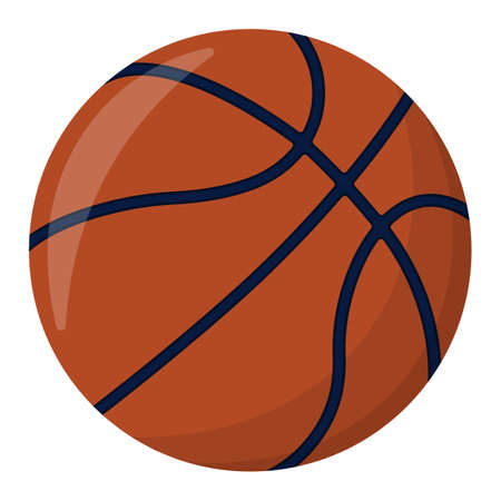 Basketball Ball. Sport Supplies Icon and Logo. Isolated design element. Vector illustration.