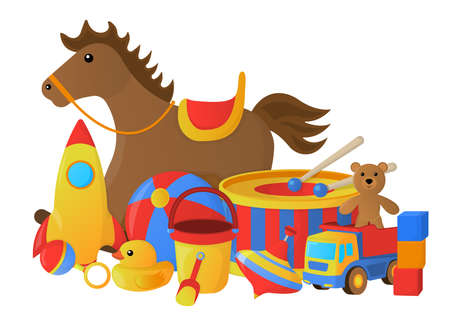 Concept of Childrens Toy icon. Cartoon style. Vector Illustration.