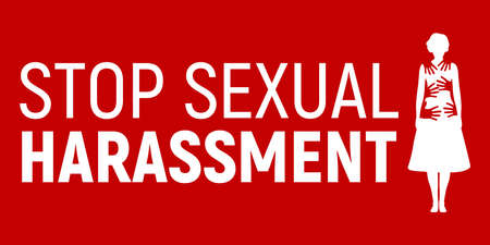 Stop Sexual Harassment Banner. Stock Illustratie