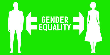 Gender Equality Banner. Business Relationship Label