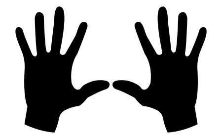 Man hand Icon.