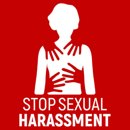 Stop Sexual Harassment Banner. 矢量图像