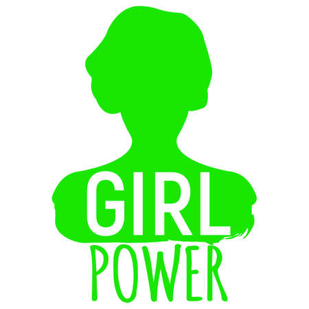 Girl Power Banner. Gender equality Label Vectores