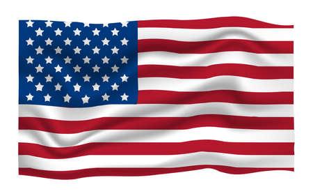 Icône de drapeau américain. Joyeux 4 juillet et fête de l'indépendance. Illustration de vecteur de dessin animé.