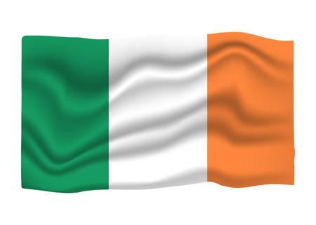 Ireland Flag Icon. National Flag Banner. Cartoon Vector illustration.