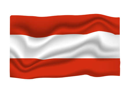 Austria Flag Icon. National Flag Banner. Cartoon Vector illustration. Ilustrace