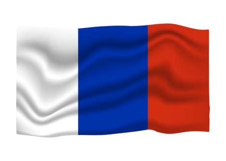 France Flag Icon. National Flag Banner. Cartoon Vector illustration. Ilustrace
