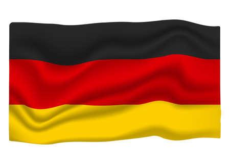 Germany Flag Icon. National Flag Banner. Cartoon Vector illustration. Ilustrace