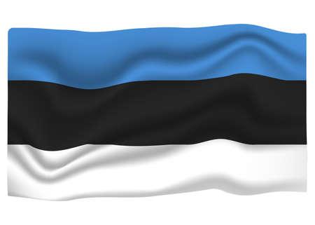 Estonia Flag Icon. National Flag Banner. Cartoon Vector illustration.