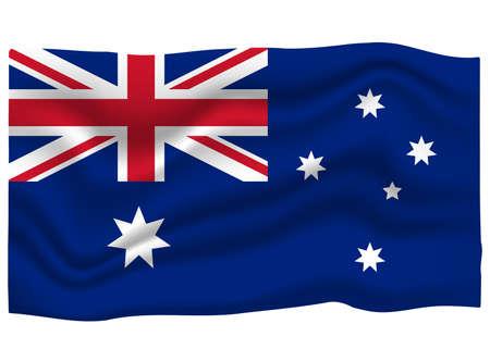 Australia Flag Icon. National Flag Banner. Cartoon Vector illustration.