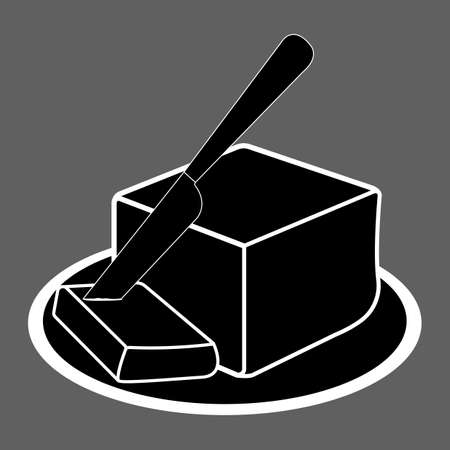 Butter oil Icon. Oil, Fat, Food label, for Web and Banners. Simple Vector Illustration.