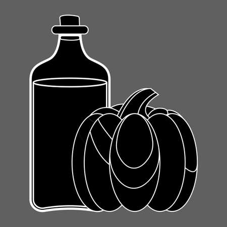 Pumpkin oil Icon. Oil, Fat, Food label, for Web and Banners. Simple Vector Illustration. Фото со стока - 130790856