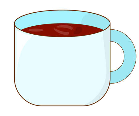 Tea Icon on white Background. Concept Label. Cartoon Vector Illustration. Stok Fotoğraf - 130791080
