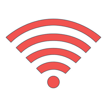 WiFi Icon. Concept for Hi Tech. Outline Technical Symbol, Icon and Badge. Simple Vector illustration. Illustration