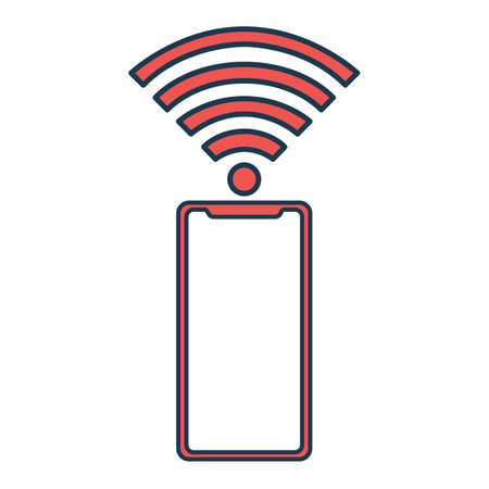 WiFi Icon. Concept for Hi Tech. Outline Technical Symbol, Icon and Badge. Simple Vector illustration. Ilustração