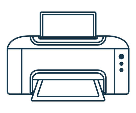 Printer Icon. Concept for Hi Tech. Outline Office Equipment. Technical Symbol, Icon and Badge. Simple Vector illustration. Stock Illustratie