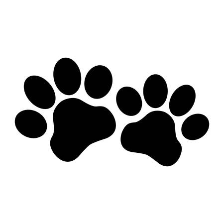 Paw Icon. Concept for Healthcare Medicine and Pet Care. Outline and Black Domestic Animal. Pets Symbol, Icon and Badge. Simple Vector illustration.