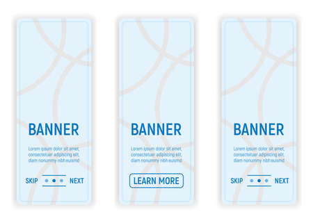 Web Banner for Web and Smartphone. Icon and Label on Background in Box. Template for Note, Message and Web. Simple and Cartoon Vector Illustration.