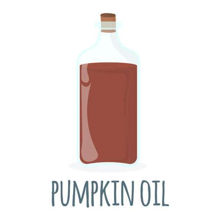 Pumpkin oil Icon. Oil, Fat, Food label