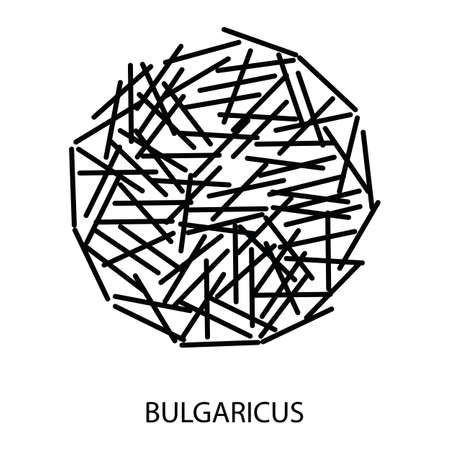 Bulgaricus Icon. Probiotic Concept and Label. Health Research Symbol, Icon and Badge. Simple and Black Vector illustration.