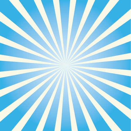 Icona colorata dello sprazzo di sole. Simbolo, etichetta e concetto colorati dei raggi del sole. Illustrazione e arte di vettore del fumetto.