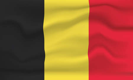 Belgium Flag Icon and Logo. World National Isolated Flag Banner and Template. Realistic, 3D Vector illustration Art with Wave Effect.