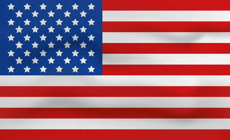United States of America Flag Icon and Logo. World National Isolated Flag Banner and Template. Realistic, 3D Vector illustration Art with Wave Effect. Ilustrace