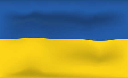 Ukraine Flag Icon and Logo. World National Isolated Flag Banner and Template. Realistic, 3D Vector illustration Art with Wave Effect. Illusztráció