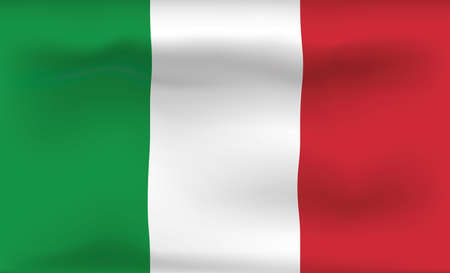 Italy Flag Icon and Logo. World National Isolated Flag Banner and Template. Realistic, 3D Vector illustration Art with Wave Effect. Ilustrace