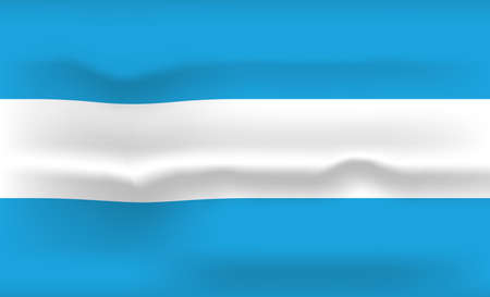 Argentina Flag Icon and Logo. World National Isolated Flag Banner and Template. Realistic, 3D Vector illustration Art with Wave Effect.