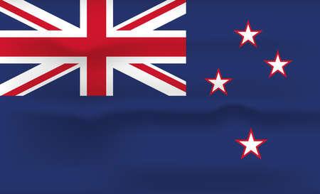 New Zealand Flag Icon and Logo. World National Isolated Flag Banner and Template. Realistic, 3D Vector illustration Art with Wave Effect. Ilustrace