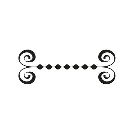 Vintage vector illustration, concept calligraphic line and design frame retro label. Decoration background banner, luxury elegant graphic logo. Isolated on white.