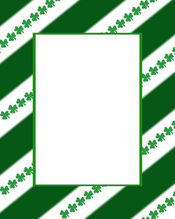 Stripes & Clovers Frame photo