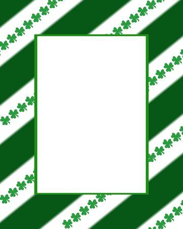 Stripes & Clovers Frame Stock Photo - 761863