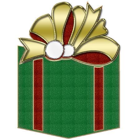 Gift Box verde Archivio Fotografico - 8457755