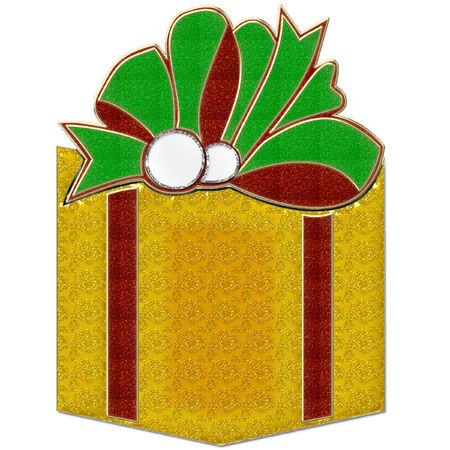 Gift Box oro Archivio Fotografico - 8457757