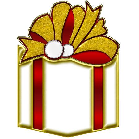 Gift Box bianco Archivio Fotografico - 8457754