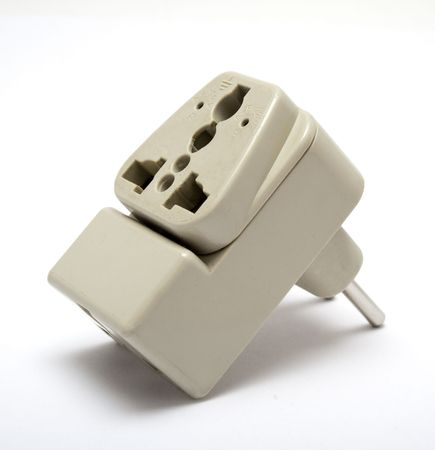 electrical power: Universal electrical power adapter Stock Photo