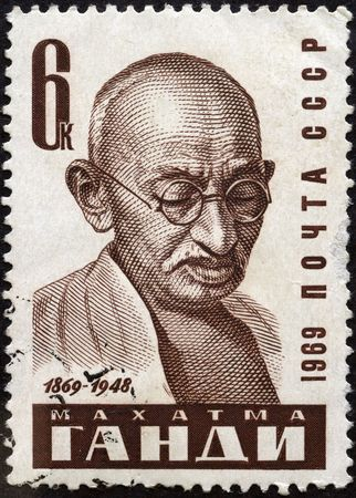 Mahatma Gandhi was the pre-eminent political and spiritual leader of India. Postage stamp
