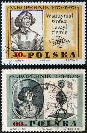 astronomer: Nicolaus Copernicus a Renaissance astronomer. Postage stamp