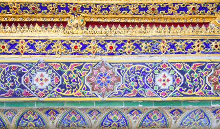 Beautiful thai ornament texture. Grand Palace, Bangkok, Thailand photo