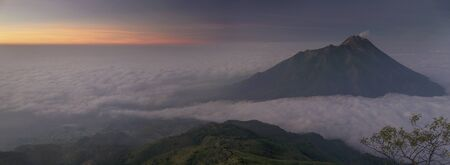 Mt. Merapi at Sunrise
