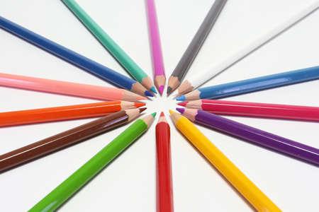 pencils colors circles